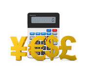 Global Currencies with Calculator Royalty Free Stock Image