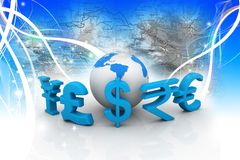 Global Currencies Royalty Free Stock Image