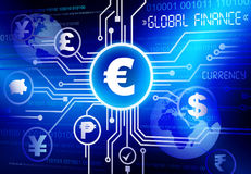 Global currency finance rate concept Royalty Free Stock Images