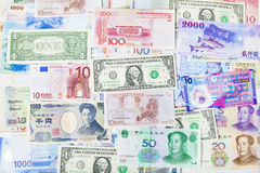 Global currency paper, banking ,finance,and stock market Stock Photo