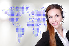 Global customer service worker Stock Photo