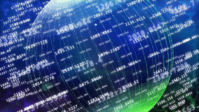 Global cyberspace covered with decimal digits Stock Image