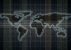 Global data flow Royalty Free Stock Images