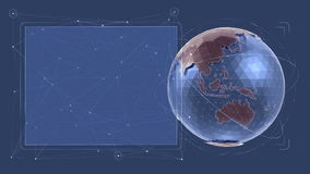 Global Data Presentation - Infographical Interface stock video footage
