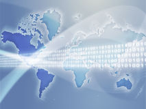 Global data transfer Royalty Free Stock Photography