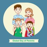 Global Day of Parents with happy family vector illustration