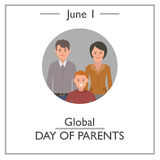 Global Day of Parents, June 1 Stock Images