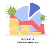 Free Global Decrease Of Business Volumes Due To COVID-19. 2019-nCoV Royalty Free Stock Photography - 182470607