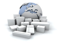 Global delivery Stock Images
