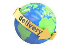 Global delivery concept, 3D rendering Royalty Free Stock Photos