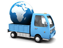 Global delivery vector illustration