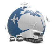 Global delivery 3d image Royalty Free Stock Image