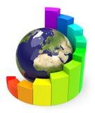 The global diagram Royalty Free Stock Photos