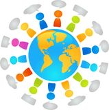 Global dialog Royalty Free Stock Images