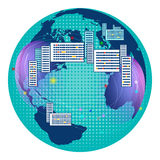 Global Digital mesh network, communications Stock Image