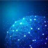 Global Digital mesh network Royalty Free Stock Image