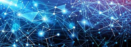Global digital Network stock illustration