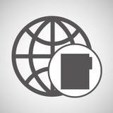 Global digital network file design Royalty Free Stock Image