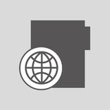 Global digital network file design Royalty Free Stock Photography