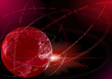 Global digital technologies. Red. Royalty Free Stock Photo