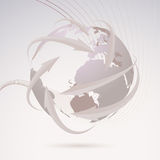 Global directional background template Royalty Free Stock Photography