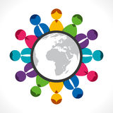 Global discussion Royalty Free Stock Images