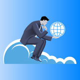 Global dominance business concept Royalty Free Stock Photography