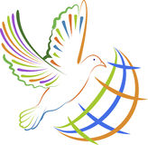 Global dove logo Stock Images