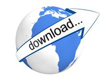Global Download. Concept  in 3D Royalty Free Stock Photos