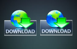 Global download concept. Vector illustration of cool global computer download concept Royalty Free Stock Images