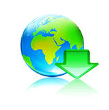 Global download concept. Vector illustration of cool global computer download concept Royalty Free Stock Photography