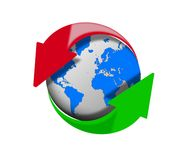 Global download and upload arrows Royalty Free Stock Images