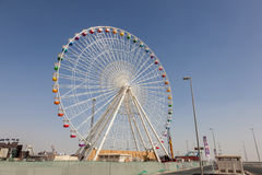 Global by Dubai Ferris Wheel Arkivbilder