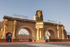 Global by Dubailand i Dubai Fotografering för Bildbyråer