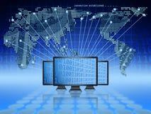 Global e-kommers stock illustrationer