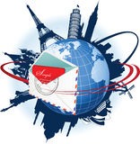 Global e-mail concept. Stock Photography