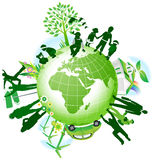 Global eco. vector illustration
