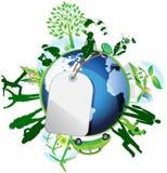 Global eco. vector illustration