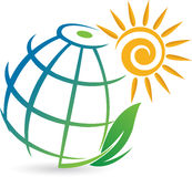 Global Eco logo Royalty Free Stock Image