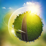 Global eco transportation concept Royalty Free Stock Image
