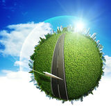 Global eco and transportation concept Stock Photo