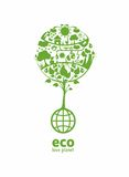 Global ecology. With place for text(example eco, love planet stock illustration