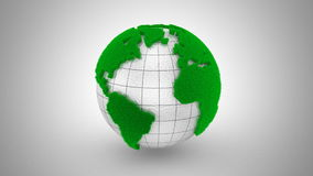 Global Ecology Animation stock footage