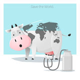 Global ecology concept Save the world before it's too late Stock Image