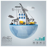 Global Ecology And Environment Conservation Infographic. Design Template stock illustration