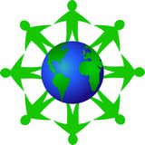 Global Ecology Teamwork/eps Royalty Free Stock Image