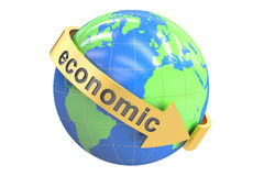 Global Economic concept, 3D rendering. On white background Stock Image