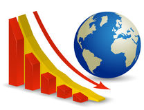 Global Economic Crisis. World Recession Royalty Free Stock Image