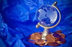 Global economic crisis. Global finance in serious economic difficulty Stock Photo