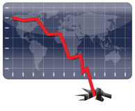 Global Economic Crisis. Graph illustrating the world's financial crisis Royalty Free Stock Image